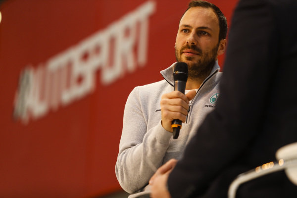 Gary Paffett (GBR) on the main stage at Autosport International, Day One, NEC, Birmingham, England, Thursday 11 January 2018.