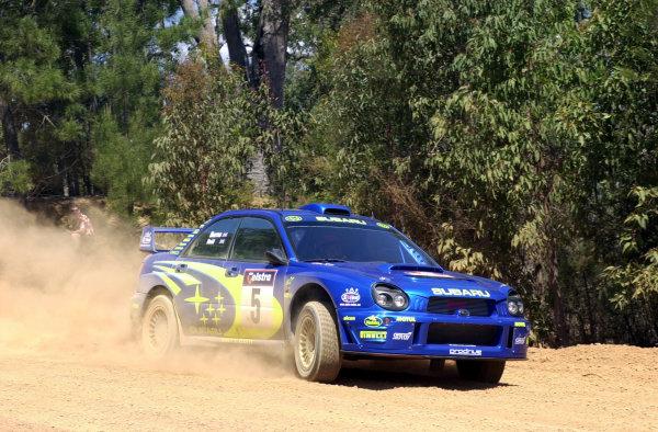 2001 World Rally ChampionshipTelstra Rally Australia, Perth, WA. 1-4 November 2001.Richard Burns during shakedown.Photo: Ralph Hardwick/LAT