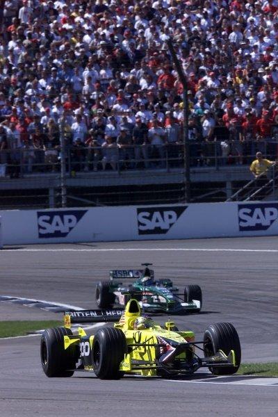 Jean Alesi(FRA) Jordan Honda EJ11 United States Grand Prix, Indianapolis 30 September 2001. DIGITAL IMAGE