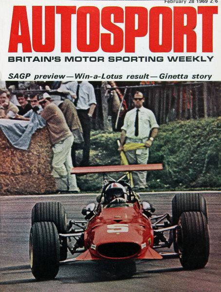 Cover of Autosport magazine, 28th February 1969