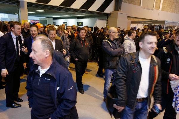 Autosport International Exhibition. National Exhibition Centre, Birmingham, UK. Thursday 12 January 2017. Zak Brown opens the 2017 Autosport International show.  World Copyright: Sam Bloxham/LAT Photographic. Ref: _SLB4353