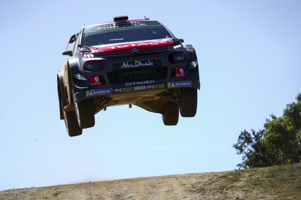 Mads Østberg in full flight on Rally d'Italia Sardinia