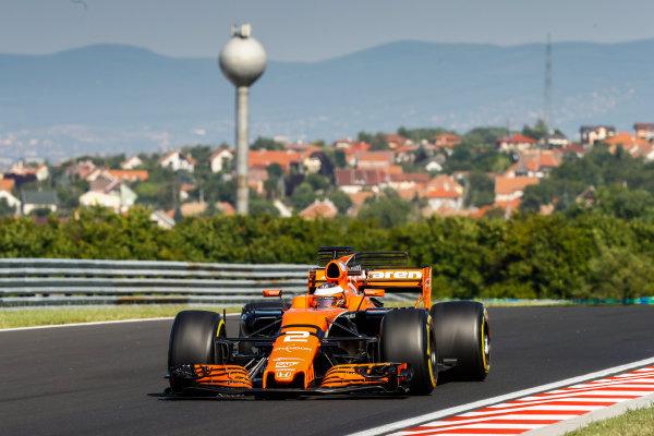 Hungaroring, Budapest, Hungary.  Tuesday 1 August 2017. Stoffel Vandoorne, McLaren MCL32 Honda. World Copyright: Joe Portlock/LAT Images  ref: Digital Image _R3I0092