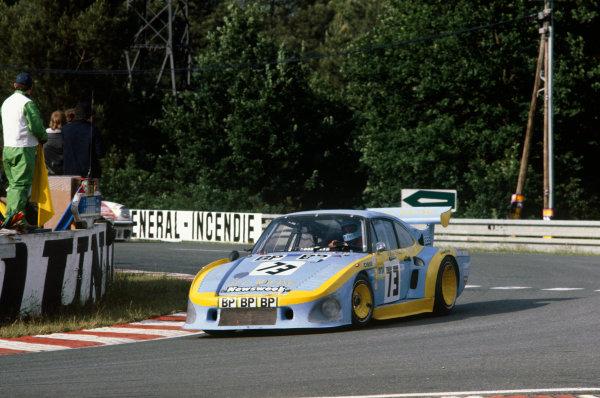 1980 Le Mans 24 Hours. Le Mans, France. 14th - 15th June 1980. John Paul/Guy Edwards/John Paul, Jr. (Porsche 935 K3), 9th position, action.  World Copyright: LAT Photographic. Ref: 80LM13