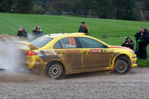 Round 12Rally Great Britain 22nd - 25th October 2009Jarkko Nikara, Mitsubishi, ActionWorldwide Copyright: McKlein/LAT