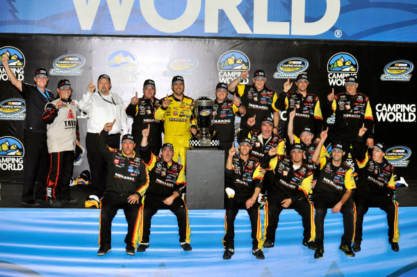 15 November, 2013, Homestead, Florida USA Matt Crafton celebrates winning the Truck Series Championship © 2013, Nigel Kinrade LAT Photo USA
