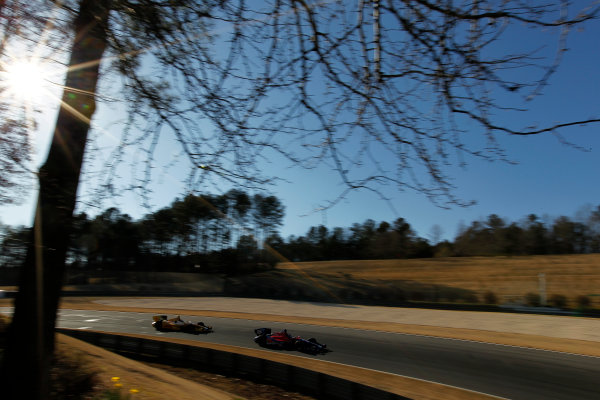 12-13 March, 2013, Birmingham, Alabama, USA Marco Andretti leads Ryan Hunter-Reay. ©2013, Phillip Abbott LAT Photo USA