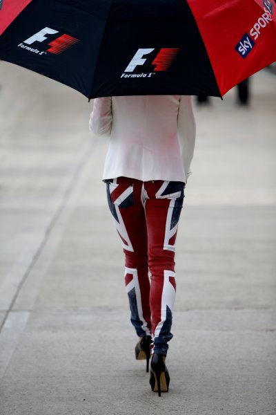 Silverstone, Northamptonshire, England 27th June 2013 Union Jack Trousers World Copyright: Glenn Dunbar/  ref: Digital Image _89P6847