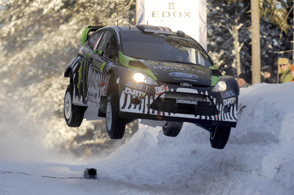 Ken Block (USA) Ford Fiesta WRC on stage 5. World Rally Championship, Rd1, Rally Sweden, Day One, Karlstad, Sweden. 11 February 2011.