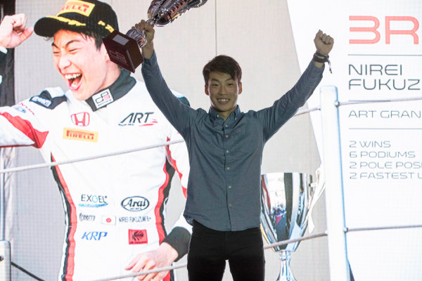 2017 Awards Evening. Yas Marina Circuit, Abu Dhabi, United Arab Emirates. Sunday 26 November 2017. Nirei Fukuzumi (JPN, ART Grand Prix).  Photo: Zak Mauger/FIA Formula 2/GP3 Series. ref: Digital Image _56I3613
