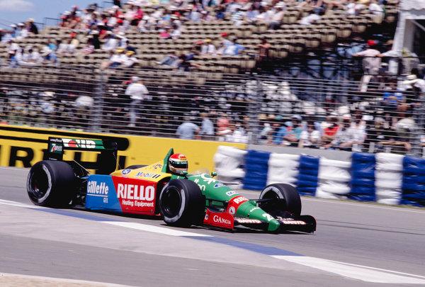 1989 Australian Grand Prix.Adelaide, Australia.3-5 November 1989.Emanuele Pirro (Benetton B189 Ford) 5th position.Ref-89 AUS 38.World Copyright - LAT Photographic