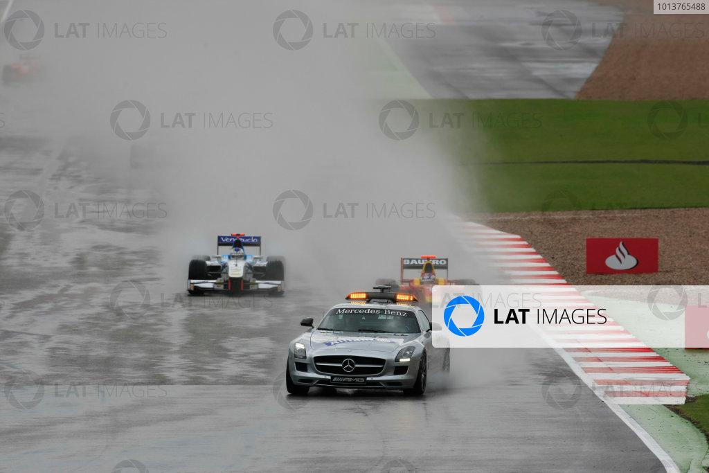 Silverstone, Northamptonshire, England. 7th July 2012. Saturday Race. The safety car leads the grid. Action. Photo: Photo: Jakob Ebrey/GP2 Media Service./GP2 Media Service. Ref: Digital Image _E1_4165.jpg