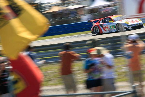 Sebring, Florida, USA. 15th-17th March 2012,Jorg Bergmeister/Pat Long/Marco Holzer - Flying Lizard Motorsports Porsche 997 GT3 RSRWorld Copyright: Ebrey/LAT Photographic.