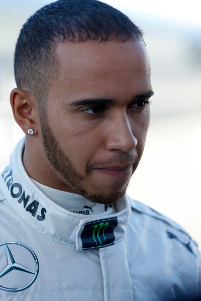 Circuito de Jerez, Jerez de la Frontera, Spain, 4th February 2013 Lewis Hamilton, Mercedes AMG. World Copyright: Alastair Staley/LAT Photographic ref: _R6T7413