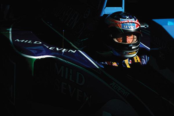 Spa-Francorchamps, Belgium. 26th - 28th August 1994. Michael Schumacher (Benetton B194B-Ford), 1st position, portrait.  World Copyright: LAT Photographic. Ref:  94 BEL 08