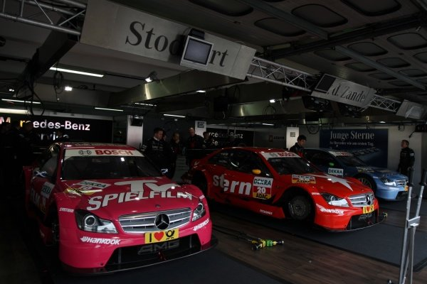 Mercedes garage.