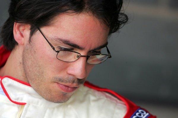 Borja Garcia (ESP) Valencia FC. Superleague Formula Testing, Donington, England. 21 August 2008.