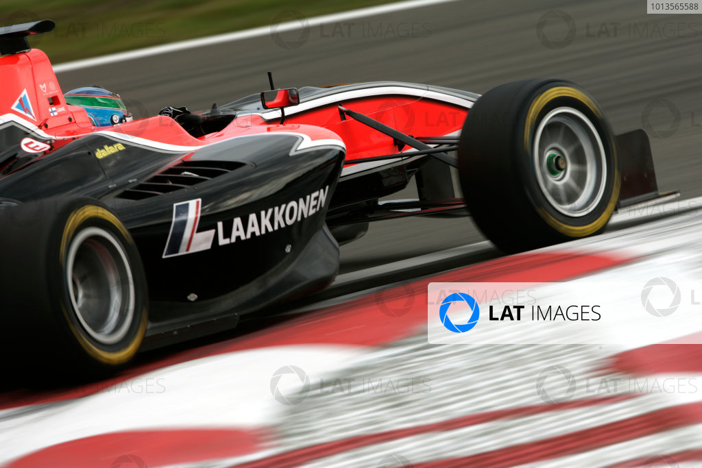 Round 5. Nurburgring, Germany. 22nd July 2011.Friday First Practice.Matias Laine, (FIN, Marussia Manor Racing).  Action. Photo: Drew Gibson/GP3 Media Service.  ref: Digital Image _Y2Z4022