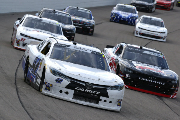#42: Chad Finchum, Motorsports Business Management, Toyota Supra MBM Motorsports and #21: Joe Graf Jr., Richard Childress Racing, Chevrolet Camaro Eat, Sleep, Race
