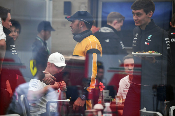 Lewis Hamilton, Mercedes AMG F1 and George Russell, Mercedes AMG F1