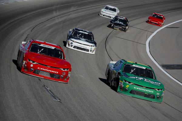 #0: Garrett Smithley, JD Motorsports, Chevrolet Camaro teamjdmotorsports.com and #11: Ryan Truex, Kaulig Racing, Chevrolet Camaro LeafFilter Gutter Protection