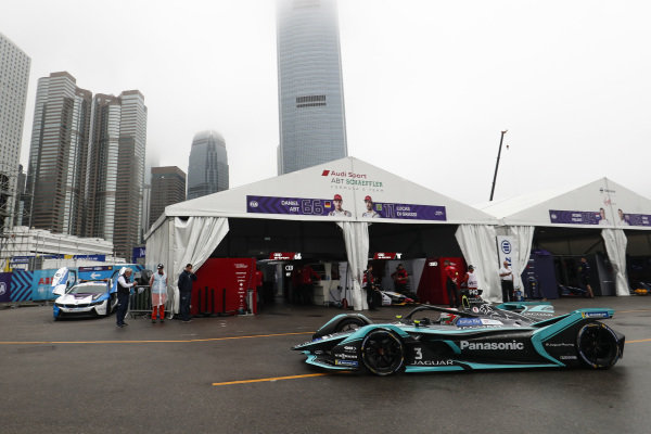 Nelson Piquet Jr. (BRA), Panasonic Jaguar Racing, Jaguar I-Type 3 heads down the pit lane
