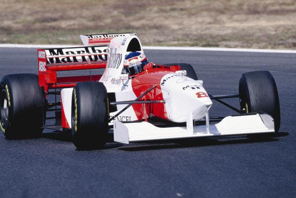 1995 Pacific Grand Prix.Aida, Japan. 20-22 October 1995.Jan Magnussen (McLaren MP4/10B Mercedes) 10th position.Ref-95 PAC 18.World Copyright - LAT Photographic
