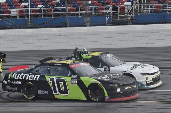 #11: Justin Haley, Kaulig Racing, Chevrolet Camaro LeafFilter Gutter Protection, wins at Talladega and celebrates with #10: Ross Chastain, Kaulig Racing, Chevrolet Camaro Nutrien Ag Solutions