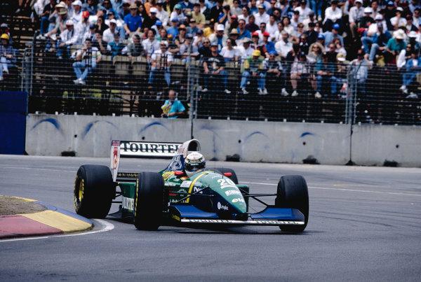 1994 Australian Grand Prix.Adelaide, Australia. 11-13 November 1994.Jean-Denis Deletraz (Larousse LH94 Ford).Ref-94 AUS 62.World Copyright - LAT Photographic