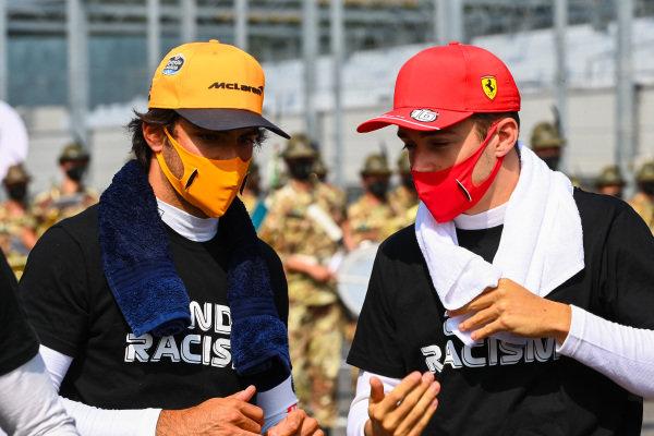 Carlos Sainz, McLaren and Charles Leclerc, Ferrari