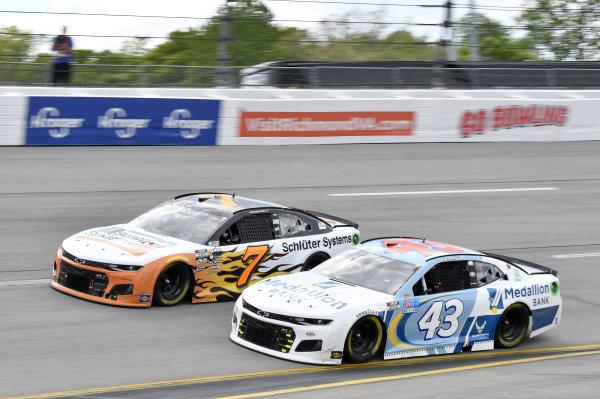 #43: Erik Jones, Richard Petty Motorsports, Chevrolet Camaro Medallion Bank, #7: Corey LaJoie, Spire Motorsports, Chevrolet Camaro Schluter Systems