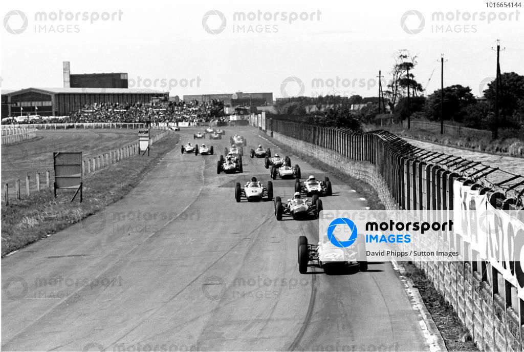 British GP, Aintree  21 July 1962 The Start, Winner Jim Clark leads from Surtees, Gurney and Bruce Mclaren