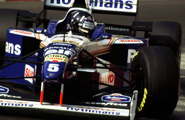 Monaco Grand Prix.Monte Carlo, Monaco.16-19 May 1996Damon Hill (Williams FW18 Renault).World Copyright - LATemail: digital@latphoto.co uk