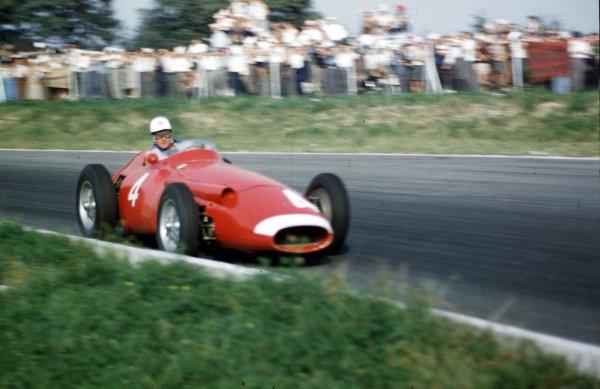1957 Italian Grand Prix.Monza, Italy.6-8 September 1957.Harry Schell (Maserati 250F).Ref-57 ITA 16.World Copyright - LAT Photographic