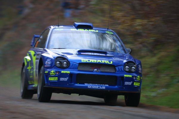 2001 FIA World Rally Championship.Rally Of Great Britain. Cardiff, Wales. November 22-25th.Markko Martin, Subaru Impreza WRC.Stage One.Photo: Paul Dowker/LAT Photographic.World - LAT Photographic.8 9mb DIgital File Only