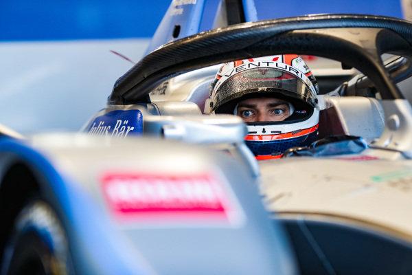 Edoardo Mortara (CHE) Venturi Formula E, in the garage