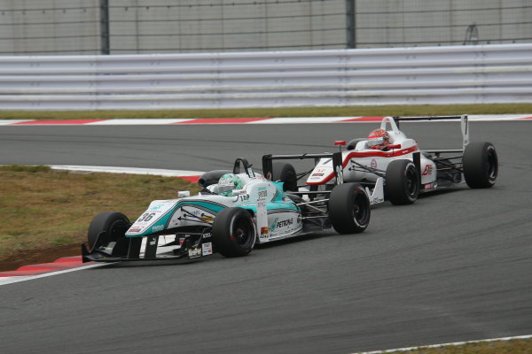 2014 All-Japan F3 Championship. Fuji, Japan. 11th - 12th October 2014. Rd 7. 2nd position Kenta Yamashita ( #36 PETRONAS TEAM TOM'S ) action World Copyright: Yasushi Ishihara / LAT Photographic. Ref:  2014_JF3_Rd14&15__006.JPG