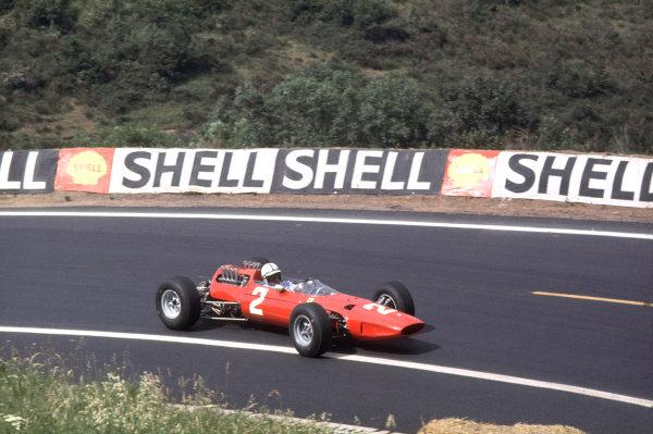 Charade, Clermont-Ferrand, France.25-27 June 1965.John Surtees (Ferrari 158) 3rd position.Ref-65 FRA 01.World Copyright - LAT Photographic
