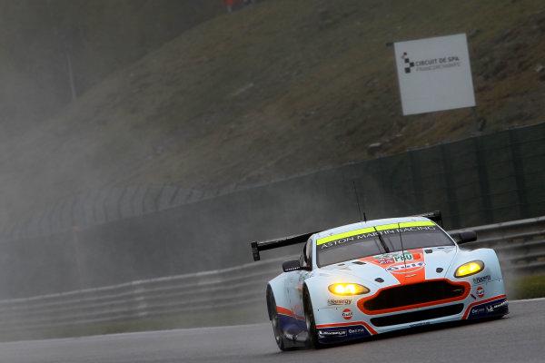 2015 FIA World Endurance Championship, Spa-Francorchamps, Belgium. 30th April - 2nd May 2015. Darren Turner / Stefan Mucke / Rob Bell Aston Martin Racing Aston Martin Vantage V8/ World Copyright: Ebrey / LAT Photographic.