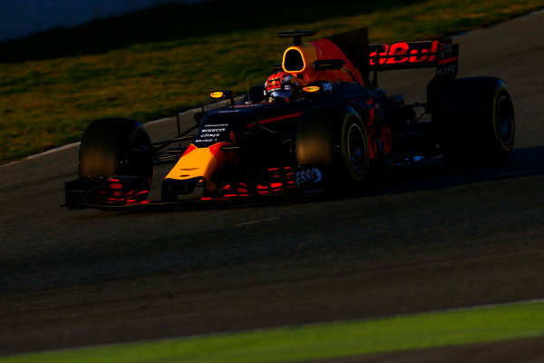 Circuit de Barcelona Catalunya, Barcelona, Spain. Thursday 02 March 2017. Max Verstappen, Red Bull Racing RB13 TAG Heuer. World Copyright: Zak Mauger/LAT Images ref: Digital Image _L0U3507