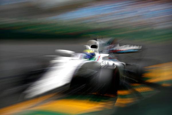 Albert Park, Melbourne, Australia. Friday 24 March 2017. Felipe Massa, Williams FW40 Mercedes. World Copyright: Glenn Dunbar/LAT Images Ref: Digital Image _31I9569