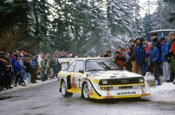 1986 World Rally Championship.Monte Carlo Rally, Monaco. 18-24 January 1986.Walter Rohrl/Christian Geistdorfer (Audi Sport Quattro E2), 4th position.World Copyright: LAT PhotographicRef: 35mm transparency 86RALLY21
