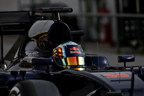 Circuit de Catalunya, Barcelona, Spain Monday 22 February 2016. Carlos Sainz Jr, Toro Rosso STR11 Ferrari. World Copyright: Glenn Dunbar/LAT Photographic ref: Digital Image _W2Q0969
