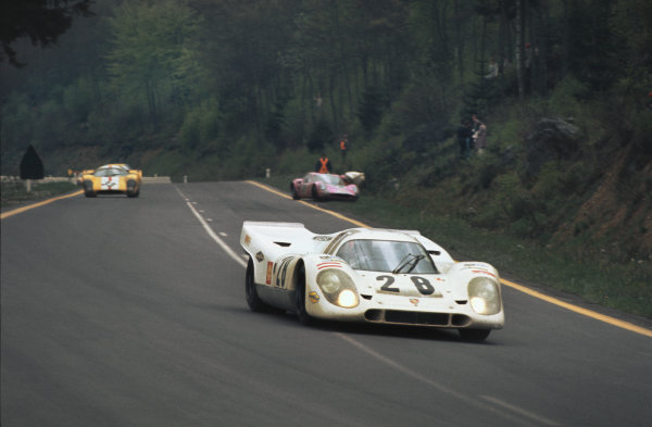 1970 Spa Francorchamps 1000 kms. Spa Francorchamps, Belgium. 17th May 1970. Rd 6. Vic Elford/Kurt Ahrens, Jr. (Porsche 917K), 3rd position, action.  World Copyright: LAT Photographic.
