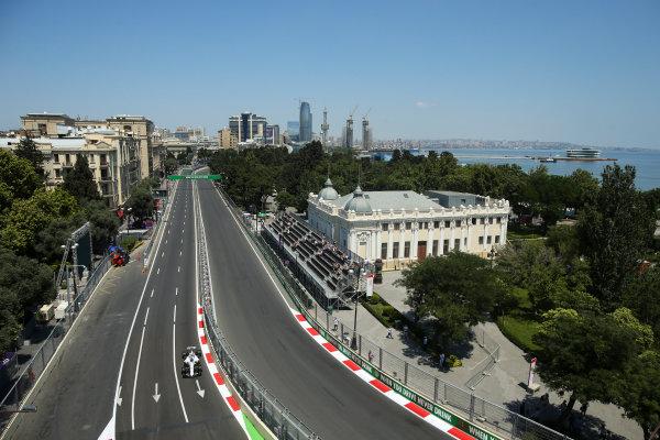 Baku City Circuit, Baku, Azerbaijan. Friday 23 June 2017. Lance Stroll, Williams FW40 Mercedes.  World Copyright: Charles Coates/LAT Images ref: Digital Image AX0W5031