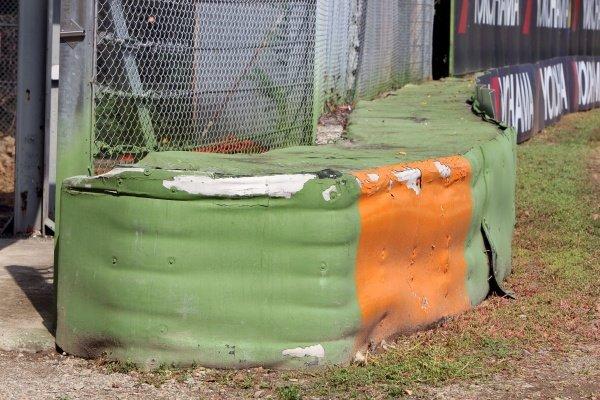 Tyre barrier.Imola Track Walk, Imola, San Marino, Thursday 17 September 2009.