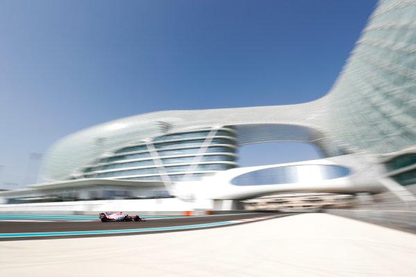 Yas Marina Circuit, Abu Dhabi, United Arab Emirates. Tuesday 28 November 2017. Nikita Mazepin, Force India VJM10 Mercedes.  World Copyright: Zak Mauger/LAT Images  ref: Digital Image _O3I9874