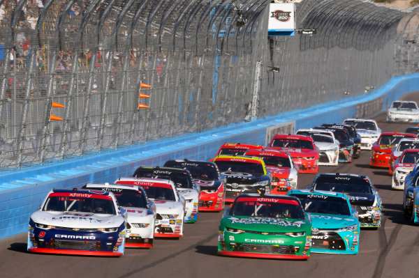 NASCAR XFINITY Series Ticket Galaxy 200 Phoenix Raceway, Avondale, AZ USA Saturday 11 November 2017 William Byron, Liberty University Chevrolet Camaro and Daniel Hemric, Smokey Mountain Snuff Chevrolet Camaro World Copyright: Nigel Kinrade LAT Images