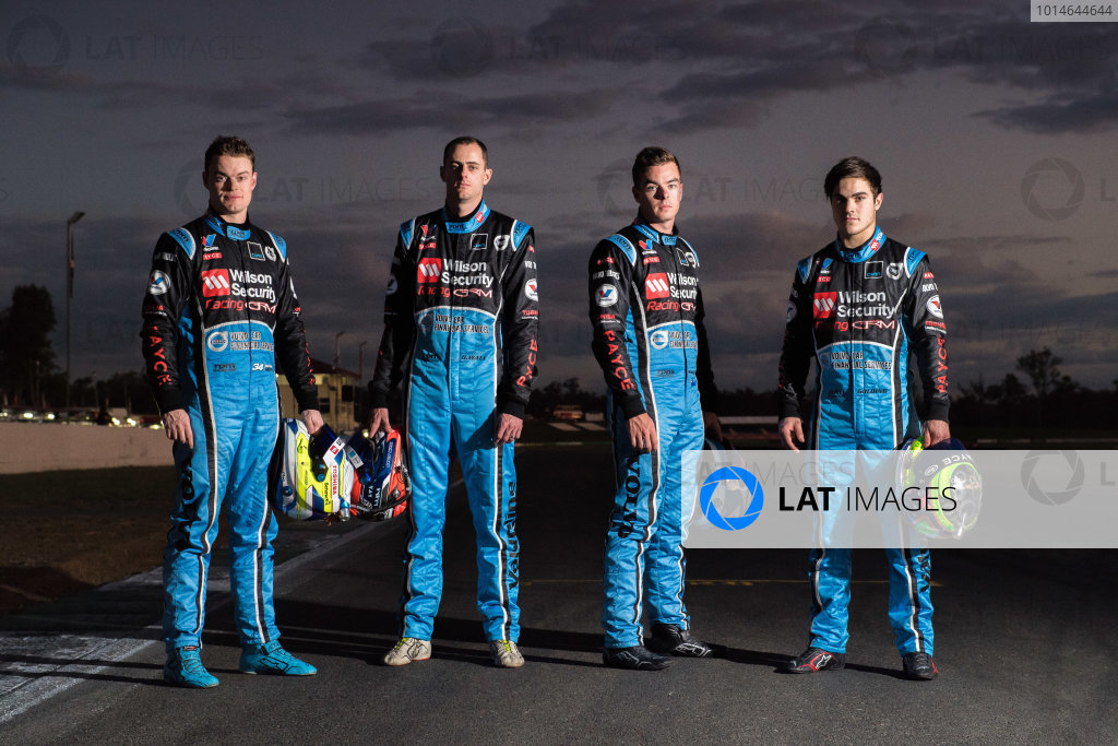 2016 Supercars Championship Round 8.  Ipswich SuperSprint, Queensland Raceway, Willowbank, Queensland, Australia. Friday 22nd July to Sunday 24th July 2016. James Moffat driver of the #34 Wilson Security Racing GRM Volvo S60, David Wall driver of the Wilson Security Racing GRM Volvo S60, Scott McLaughlin driver of the #33 Wilson Security Racing GRM Volvo S60, James Golding driver of the Wilson Security Racing GRM Volvo S60.  World Copyright: Daniel Kalisz/LAT Photographic Ref: Digital Image 220716_VASCR8_IPSWICH_DKIMG_1235.JPG