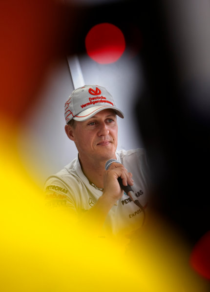 Korea International Circuit, Yeongam-Gun,South Korea. 13st October 2011. Michael Schumacher, Mercedes GP W02. Portrait.  World Copyright:Steve Etherington/LAT Photographic ref: Digital Image SNE27777